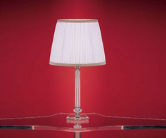 Настольная лампа Or Illuminazione - 227/G Met chrome lampshade white